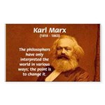 Power of Change Karl Marx Rectangle Sticker