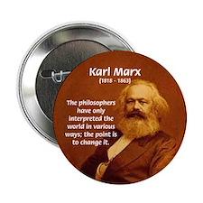 Power of Change Karl Marx Button