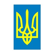 Ukraine Rectangle Sticker 10 pk)