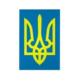 Ukraine Rectangle Magnet (100 pack)