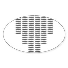 Hood Louvers Oval Sticker