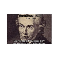 Universal Law: Kant Rectangle Magnet