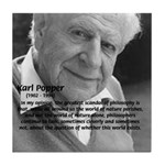 Open Society: Karl Popper Tile Coaster