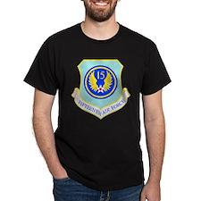 15th Air Force Black T-Shirt