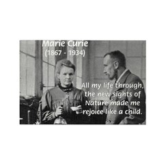 Marie Curie Physics Liberty Rectangle Magnet