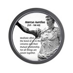 Universe: Marcus Aurelius Wall Clock