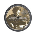 Maria Montessori Education Wall Clock