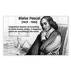 Mathematics: Blaise Pascal Rectangle Sticker