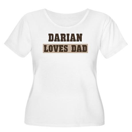 Darian loves dad Women's Plus Size Scoop Neck T-Sh