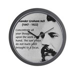 Alexander Graham Bell Wall Clock