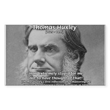 Thomas Huxley and Darwin Rectangle Decal