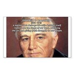 American President FDR Rectangle Sticker
