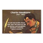 French Poets Baudelaire Rectangle Sticker