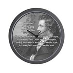 Poet Johann von Goethe Wall Clock