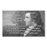 Poet Johann von Goethe Rectangle Sticker