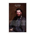 Leo Tolstoy Religion Morality Sticker (Rectangular
