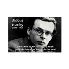 History Aldous Huxley Rectangle Magnet