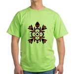 Abstract Sea Turtle Green T-Shirt