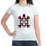 Abstract Sea Turtle Jr. Ringer T-Shirt