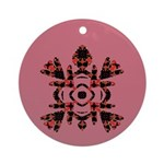 Abstract Turtle Ornament (Round)