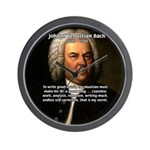 Composer J.S. Bach Wall Clock