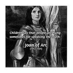 Heroine / Saint Joan of Arc Tile Coaster