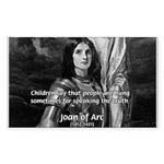 Heroine / Saint Joan of Arc Rectangle Sticker