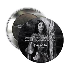 Heroine / Saint Joan of Arc Button