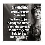 Suffragist Emmeline Pankhurst Tile Coaster
