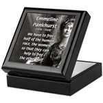 Suffragist Emmeline Pankhurst Keepsake Box