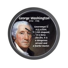 Politics: George Washington Wall Clock