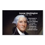 Politics: George Washington Rectangle Sticker