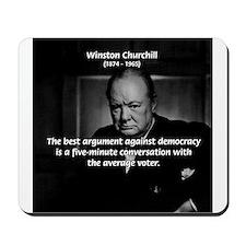 Sir Winston Churchill Mousepad