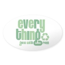 Everything Green Oval Decal