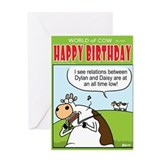 Bob Dylan Bust Up! Greeting Card