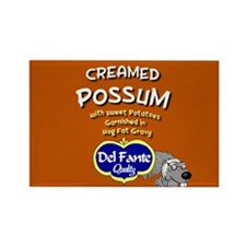 Creamed Possum Rectangle Magnet