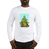 Long Sleeve Christmas Turtle T-Shirt