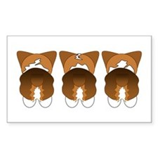 Tri Pembroke Rectangle Sticker 10 pk)