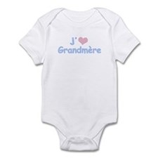 I Heart Grandmother French Infant Bodysuit