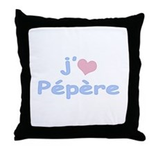 I Heart Grandpa French Throw Pillow