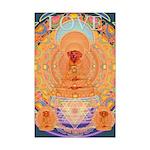 Doggy Buddha Mini Poster Print