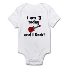 I am 3 today and I Rock! Gui Infant Bodysuit