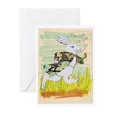 Late White Rabbit Card