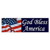 God Bless America Bumper Bumper Stickers