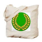 Green with Gold Laurel Tote Bag