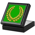 Green with Gold Laurel Keepsake Box