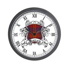 Butler Tartan Shield Wall Clock