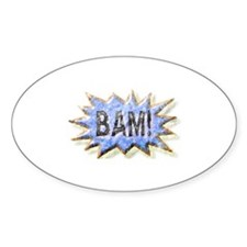 BAM! Distressed look Emeril Oval Decal