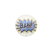 BAM! Distressed look Emeril Mini Button (10 pack)