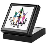 Cheer Pattern Stunt Group Keepsake Box